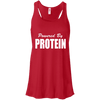 Powered by Protein Apparel CustomCat B8800 Bella + Canvas Flowy Racerback Tank Red X-Small
