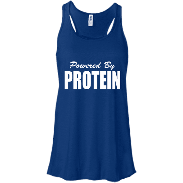 Powered by Protein Apparel CustomCat B8800 Bella + Canvas Flowy Racerback Tank True Royal X-Small