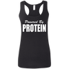 Powered by Protein Apparel CustomCat G645RL Gildan Ladies' Softstyle Racerback Tank Black Small