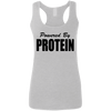 Powered by Protein Apparel CustomCat G645RL Gildan Ladies' Softstyle Racerback Tank Sport Grey Small