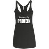Powered by Protein Apparel CustomCat NL6733 Next Level Ladies' Triblend Racerback Tank Vintage Black X-Small