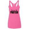 Powered by Protein Apparel CustomCat NL6733 Next Level Ladies' Triblend Racerback Tank Vintage Pink X-Small