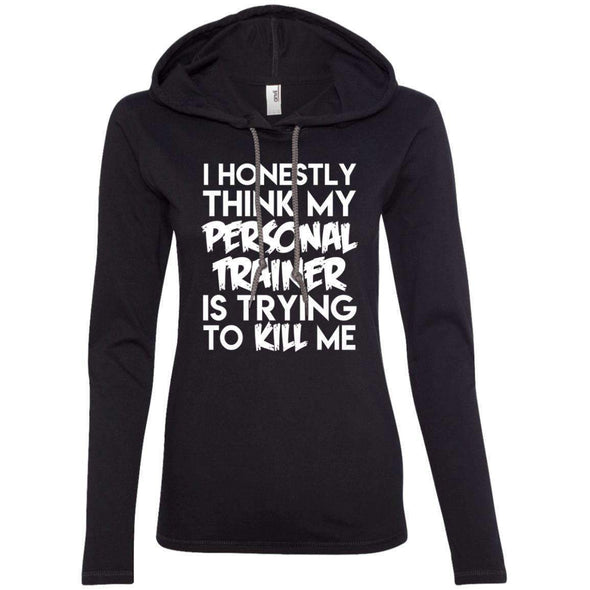 PT trying to kill me T-Shirts CustomCat Black/Dark Grey Small