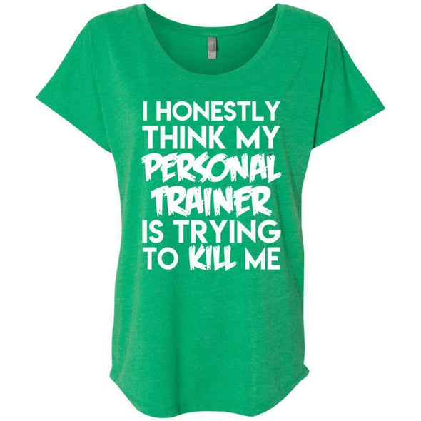 PT trying to kill me T-Shirts CustomCat Envy X-Small