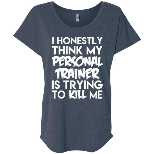 PT trying to kill me T-Shirts CustomCat Indigo X-Small