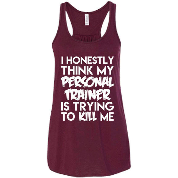 PT trying to kill me T-Shirts CustomCat Maroon X-Small
