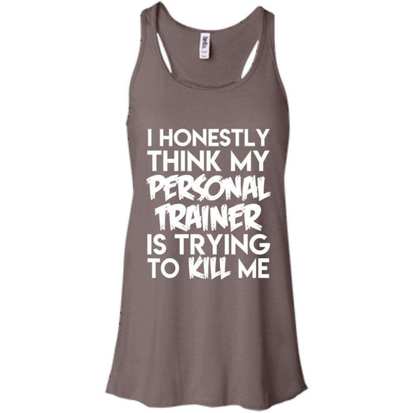 PT trying to kill me T-Shirts CustomCat Pebble Brown X-Small