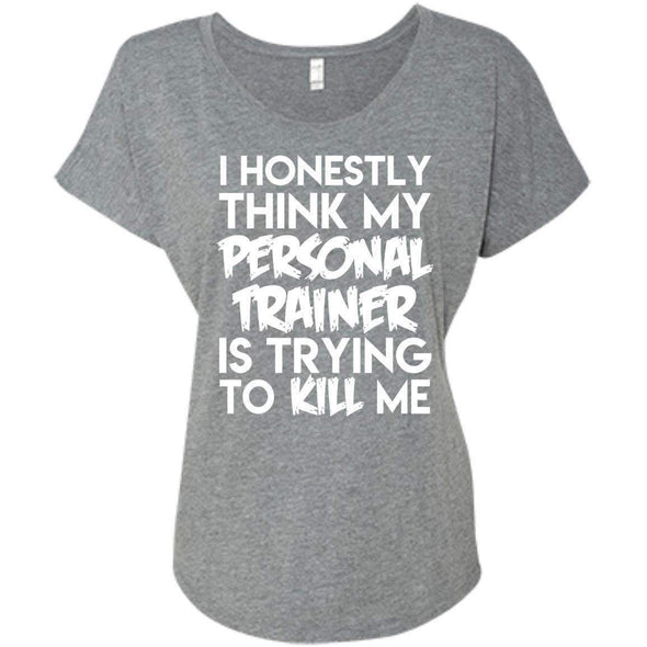 PT trying to kill me T-Shirts CustomCat Premium Heather X-Small