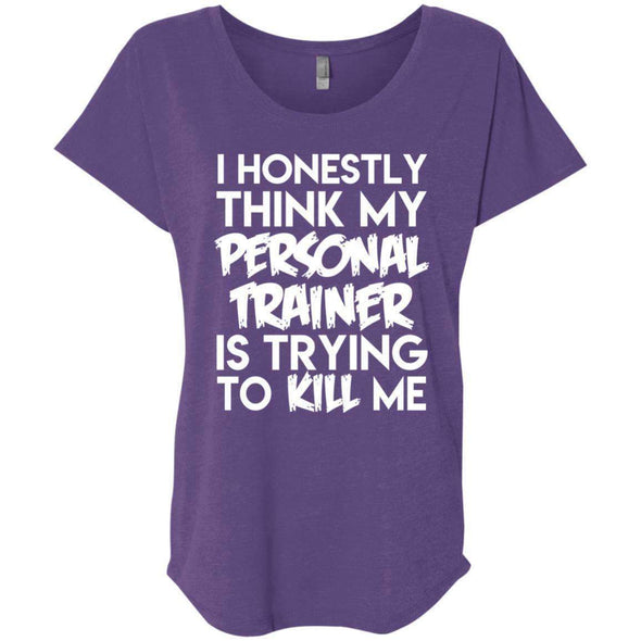 PT trying to kill me T-Shirts CustomCat Purple Rush X-Small
