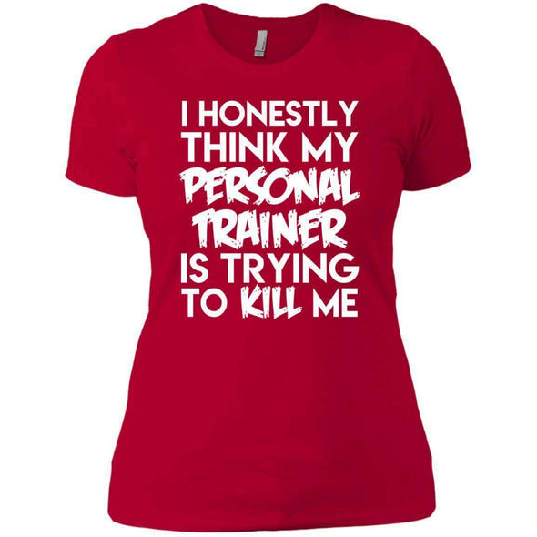 PT trying to kill me T-Shirts CustomCat Red X-Small