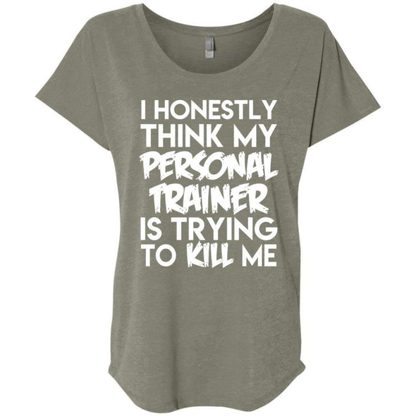PT trying to kill me T-Shirts CustomCat Venetian Grey X-Small