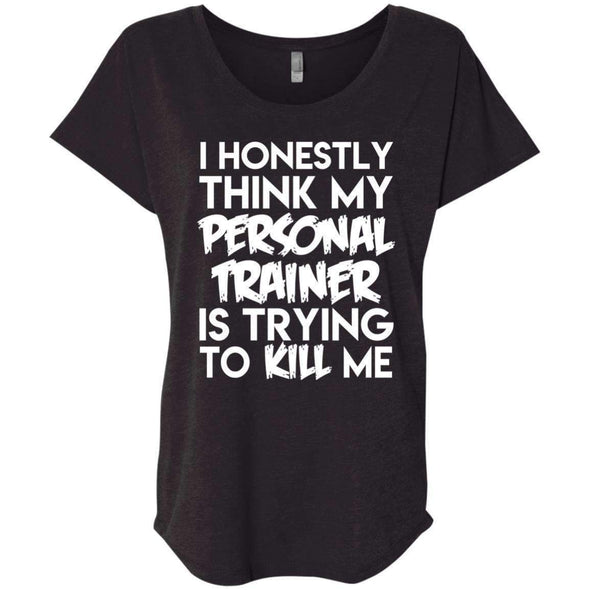 PT trying to kill me T-Shirts CustomCat Vintage Black X-Small