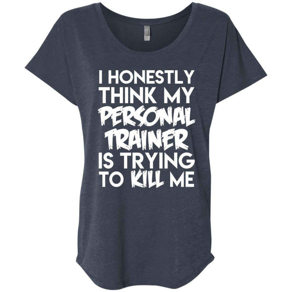 PT trying to kill me T-Shirts CustomCat Vintage Navy X-Small