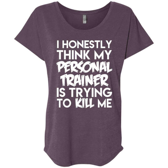 PT trying to kill me T-Shirts CustomCat Vintage Purple X-Small