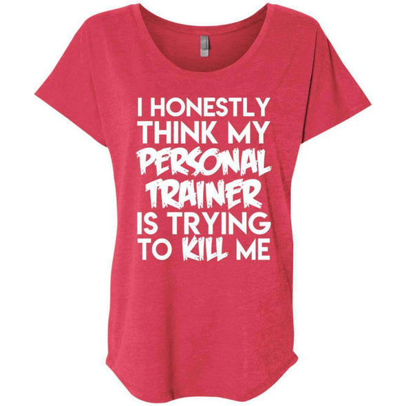 PT trying to kill me T-Shirts CustomCat Vintage Red X-Small