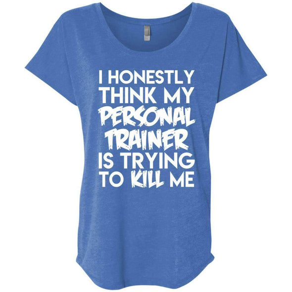 PT trying to kill me T-Shirts CustomCat Vintage Royal X-Small
