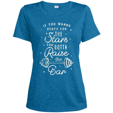 Reach for the Stars Dri-Fit T-Shirt T-Shirts CustomCat Blue Wake Heather X-Small