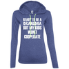 Ready to be a Grandma Hoodies Apparel CustomCat 887L Anvil Ladies' LS T-Shirt Hoodie Heather Blue/Neon Yellow Small