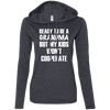 Ready to be a Grandma Hoodies Apparel CustomCat 887L Anvil Ladies' LS T-Shirt Hoodie Heather Dark Grey/Dark Grey Small