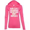 Ready to be a Grandma Hoodies Apparel CustomCat 887L Anvil Ladies' LS T-Shirt Hoodie Hot Pink/Neon Yellow Small