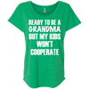Ready to be a Grandma Tees Apparel CustomCat NL6760 Next Level Ladies' Triblend Dolman Sleeve Envy X-Small