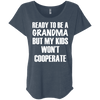 Ready to be a Grandma Tees Apparel CustomCat NL6760 Next Level Ladies' Triblend Dolman Sleeve Indigo X-Small