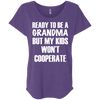 Ready to be a Grandma Tees Apparel CustomCat NL6760 Next Level Ladies' Triblend Dolman Sleeve Purple Rush X-Small