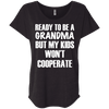 Ready to be a Grandma Tees Apparel CustomCat NL6760 Next Level Ladies' Triblend Dolman Sleeve Vintage Black X-Small