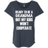 Ready to be a Grandma Tees Apparel CustomCat NL6760 Next Level Ladies' Triblend Dolman Sleeve Vintage Navy X-Small