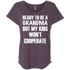 Ready to be a Grandma Tees Apparel CustomCat NL6760 Next Level Ladies' Triblend Dolman Sleeve Vintage Purple X-Small