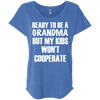 Ready to be a Grandma Tees Apparel CustomCat NL6760 Next Level Ladies' Triblend Dolman Sleeve Vintage Royal X-Small