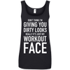 Really It's Just My Workout Face Apparel CustomCat 882L Anvil Ladies' 100% Ringspun Cotton Tank Top Black Small