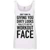 Really It's Just My Workout Face Apparel CustomCat 882L Anvil Ladies' 100% Ringspun Cotton Tank Top White Small