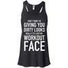 Really It's Just My Workout Face Apparel CustomCat B8800 Bella + Canvas Flowy Racerback Tank Black X-Small