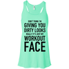 Really It's Just My Workout Face Apparel CustomCat B8800 Bella + Canvas Flowy Racerback Tank Mint X-Small
