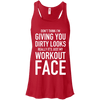 Really It's Just My Workout Face Apparel CustomCat B8800 Bella + Canvas Flowy Racerback Tank Red X-Small