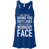 Really It's Just My Workout Face Apparel CustomCat B8800 Bella + Canvas Flowy Racerback Tank True Royal X-Small