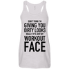 Really It's Just My Workout Face Apparel CustomCat B8800 Bella + Canvas Flowy Racerback Tank Vintage White X-Small