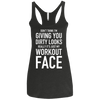 Really It's Just My Workout Face Apparel CustomCat NL6733 Next Level Ladies' Triblend Racerback Tank Vintage Black X-Small