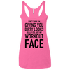 Really It's Just My Workout Face Apparel CustomCat NL6733 Next Level Ladies' Triblend Racerback Tank Vintage Pink X-Small