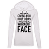 Really It's Just My Workout Face Hoodies Apparel CustomCat 887L Anvil Ladies' LS T-Shirt Hoodie White/Dark Grey Small