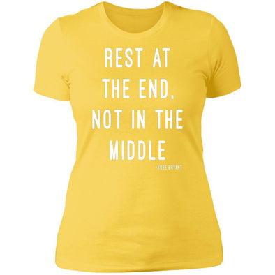 Rest at the End - Kobe Bryant T-Shirts Apparel CustomCat Boyfriend T-Shirt Vibrant Yellow X-Small