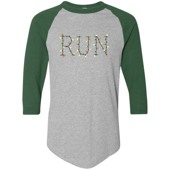 Run-Lights-fianl Apparel CustomCat Raglan Jersey Athletic Heather/Dark Green S