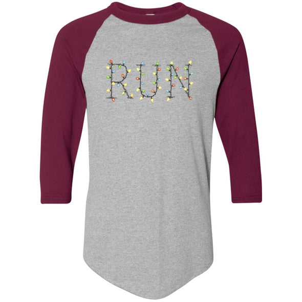 Run-Lights-fianl Apparel CustomCat Raglan Jersey Athletic Heather/Maroon S