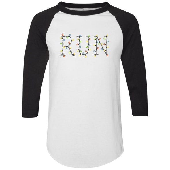 Run-Lights-fianl Apparel CustomCat Raglan Jersey White/Black S