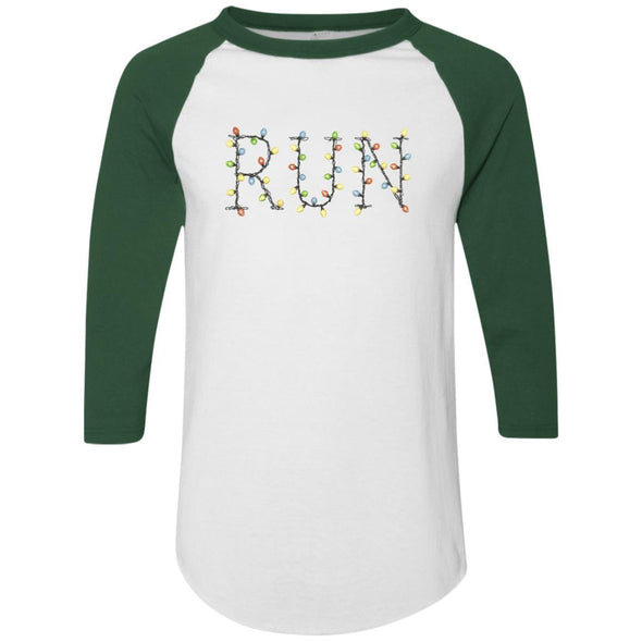 Run-Lights-fianl Apparel CustomCat Raglan Jersey White/Dark Green S