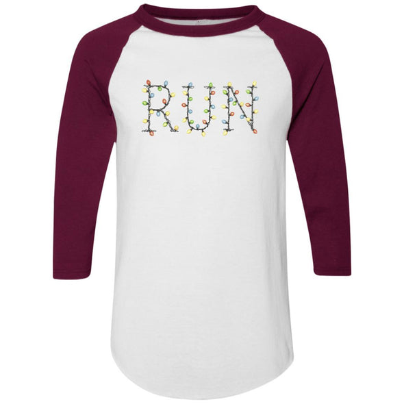 Run-Lights-fianl Apparel CustomCat Raglan Jersey White/Maroon S