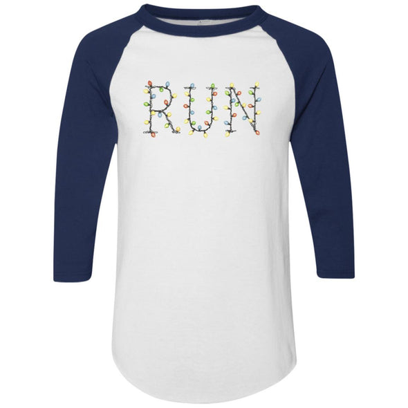 Run-Lights-fianl Apparel CustomCat Raglan Jersey White/Navy S
