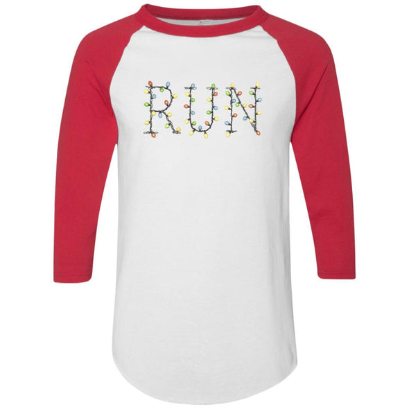 Run-Lights-fianl Apparel CustomCat Raglan Jersey White/Red S