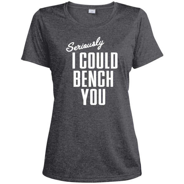 Seriously I Could Bench You Dri-Fit Tee T-Shirts CustomCat Graphite Heather X-Small